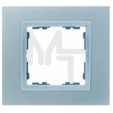 Рамка на 1 пост, S82N, алюминий - алюминий (металл им.) (10130080/241213/0018717/4, ИСПАНИЯ) 82917-33