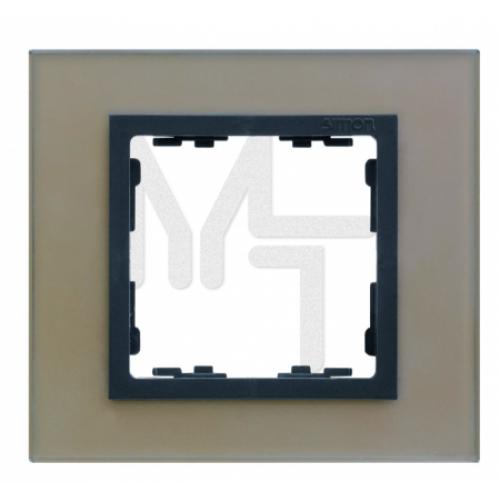 Рамка на 1 пост, S82N, медь - графит (стекло) (10130040/250914/0006826/2, ИСПАНИЯ) 82817-34