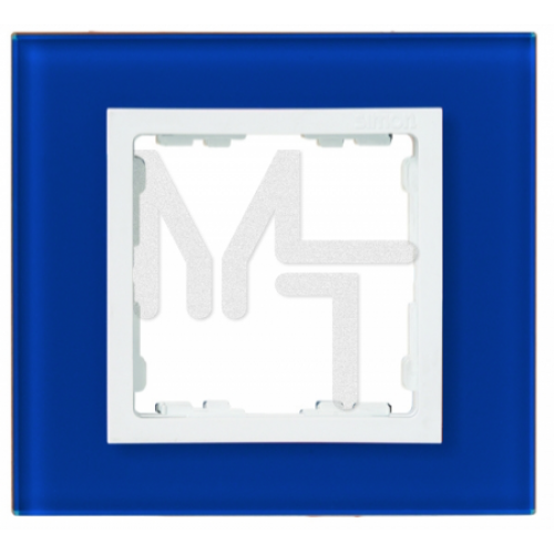 Рамка на 1 пост, S82N, синий - белый (стекло) (10130080/090713/0009470/2, ИСПАНИЯ) 82617-64