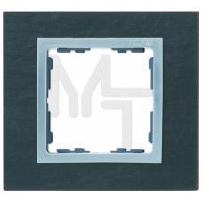 Рамка на 1 пост, S82N, сланец - алюминий (композит) (10130040/080415/0001870/1, ИСПАНИЯ) 82917-63