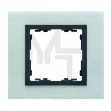 Рамка декоративная, 1 пост, S82 Nature, Металл, матовая сталь-графит 82817-31