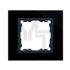 Рамка декоративная, 1 пост, S82 Nature, Стекло, чёрный-графит 82817-32