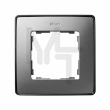 Рамка декоративная, 1 пост, Select, S82 Detail, алюминий-графит 8201610-293
