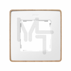 Рамка декоративная, 1 пост, Select, S82 Detail, белый-дерево (Бук) 8201610-270