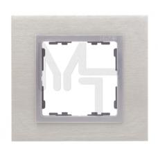 Рамка декоративная, 2 поста, S82 Nature, Металл, матовая сталь-алюминий 82927-34