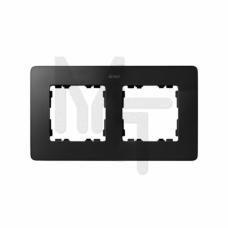 Рамка декоративная, 2 поста, Original, S82 Detail, графит-белый 8200620-038