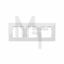 Рамка декоративная, 3 поста, Original, S82 Detail, белый-тростниковый сахар 8200630-029