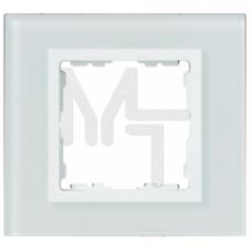 Рамка декоративная, 4 поста, S82 Nature, Стекло, белый-белый 82647-30