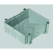 Монтажная коробка под люк в пол на 1 S-модуль, в бетон, глубина 80-130 мм, пластик G11