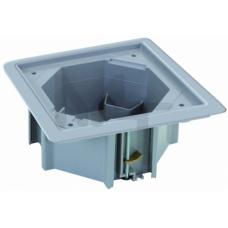 Монтажная коробка под влагостойкую основу, установка в фальшпол, цвет серый KGE170TF-23