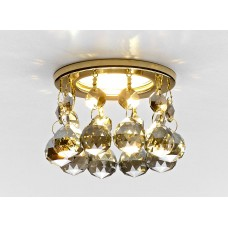 Встраиваемый точечный светильник K2051C KF/G золото/тонированный хрусталь MR16 K2051C KF/G