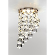 Встраиваемый точечный светильник K205C CL/G золот/прозрачный MR16 *K205C CL/G