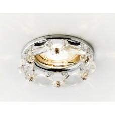 Встраиваемый точечный светильник K212 CL/CH хром/прозрачный хрусталь K212 CL/CH