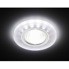Светильник S214 WH/CH/WH (WH/CH) матовый/хром/MR16+3W(LED WHITE) S214WH/CH/WH