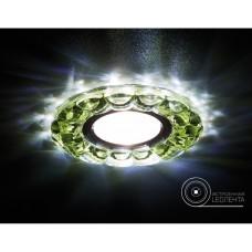 Встраиваемый точечный светильник со светодиодной лентой S230 GD золото/прозрачный хрусталь/MR16+3W(LED WHITE) S230 GD