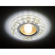 Встраиваемый точечный светильник со светодиодной лентой S231 WH/G белый/золотой/MR16+3W(LED WHITE) S231 WH/G