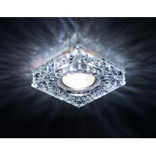 Светильник S251 CH хром/прозрачный хрусталь/MR16+3W(LED WHITE) S251CH
