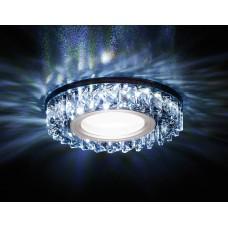 Встраиваемый точечный светильник со светодиодной лентой S255 BK хром/тонированный хрусталь/MR16+3W(LED WHITE) S255 BK