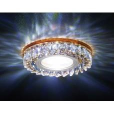 Светильник S255 BR хром/коричневый хрусталь/MR16+3W(LED WHITE) S255BR