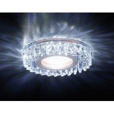 Встраиваемый точечный светильник со светодиодной лентой S255 CH хром/прозрачный хрусталь/MR16+3W(LED WHITE) S255 CH