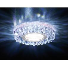Встраиваемый точечный светильник со светодиодной лентой S255 PR хром/перламутровый хрусталь/MR16+3W(LED WHITE) S255 PR