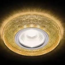 Встраиваемый точечный светильник со светодиодной лентой S290 BK хром/агат/MR16+3W(LED WHITE) S290 BK