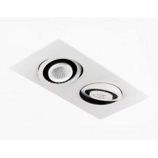 Встраиваемый потолочный светодиодный светильник S506/2 W белый 5+5W S506/2 W