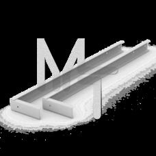 Кронштейн 600мм для крепления светильника для школьных досок 2 шт V4-E0-00.0005.SC0-0001