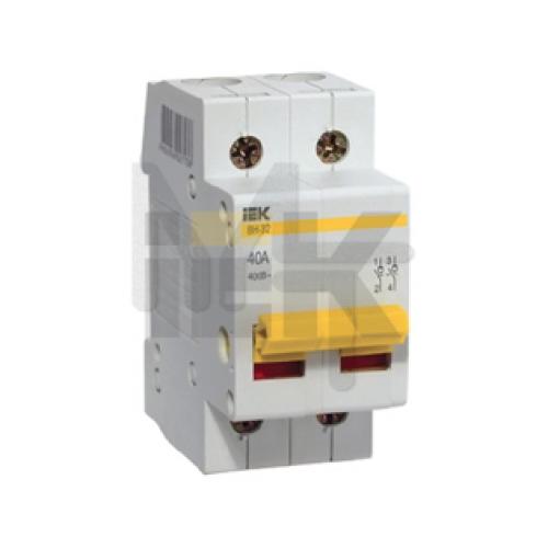 Выключатель нагрузки (мини-рубильник) ВН-32 2Р  25А ИЭК MNV10-2-025