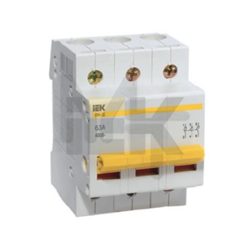 Выключатель нагрузки (мини-рубильник) ВН-32 3Р  25А ИЭК MNV10-3-025
