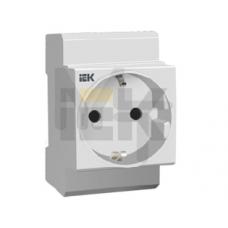 Розетка РАр10-3-ОПс заземлением на DIN-рейку ИЭК MRD10-16