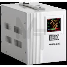 Стабилизатор напряжения переносной серии Prime 0,5 кВА IEK IVS31-1-00500