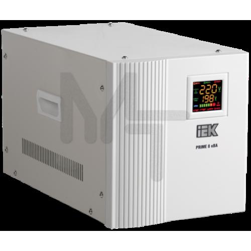 Стабилизатор напряжения переносной серии Prime 8 кВА IEK IVS31-1-08000