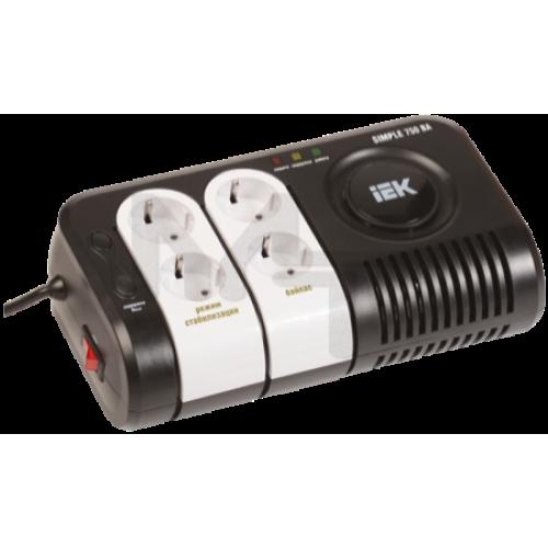 Стабилизатор напряжения серии Simple 0,75 кВА IEK IVS25-1-00750