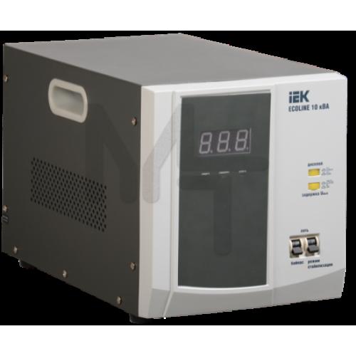 Стабилизатор напряжения переносной серии Ecoline 10 кВА IEK IVS26-1-10000
