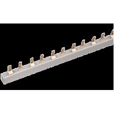 Шина соединительная типа PIN (12 штырей) 1Р 63А 22 см ИЭК YNS21-1-063-22-12