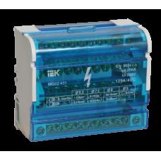 Шины на DIN-рейку в корпусе (кросс-модуль) ШНК 4х11 3L+PEN ИЭК YND10-4-11-125