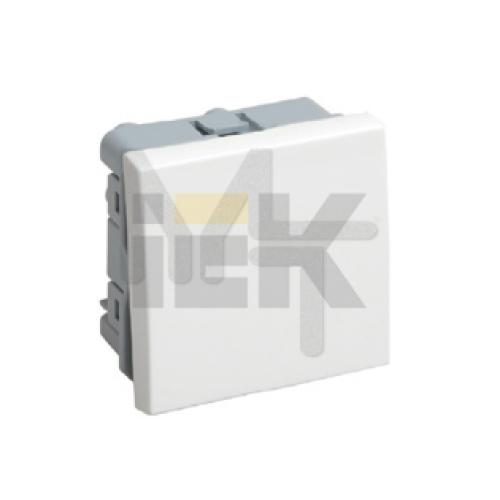 ВКО-21-00-П Выключатель одноклавишный (на 2 модуля) ПРАЙМЕР белый IEK CKK-40D-VO2-K01