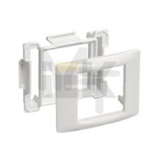 Рамка и суппорт универсальные на 2 модуля белые IEK CKK-40D-RU2-K01