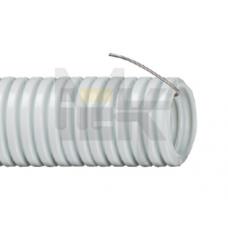 Труба гофр.ПВХ d20 с зондом (100м) ИЕК CTG20-20-K41-100I