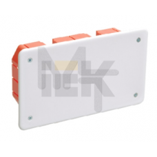 Коробка КМ41026 распаячная 172х96x45мм для полых стен (с саморезами, пластиковые лапки, с крышкой ) UKG11-172-096-045-P