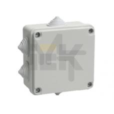 Коробка КМ41233 распаячная для о/п 100х100х50 мм IP44 (RAL7035, 6 гермовводов) UKO11-100-100-050-K41-44