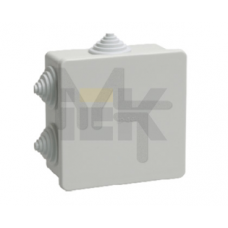 Коробка КМ41235 распаячная для о/п 85х85х40 мм IP44 (RAL7035, 6 гермовводов) UKO11-085-085-040-K41-44