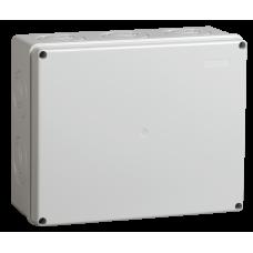 Коробка КМ41271 распаячная для о/п 240х195х90 мм IP44 (RAL7035, кабельные вводы 5 шт) UKO10-240-195-090-K41-44