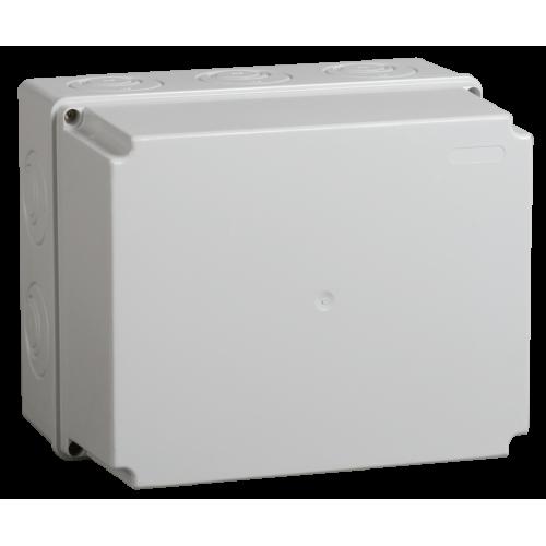 Коробка КМ41274 распаячная для о/п 240х195х165 мм IP55 (RAL7035, кабельные вводы 5 шт) UKO10-240-195-165-K41-55