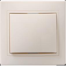 ВС10-1-0-ККм Выключатель 1кл 10А КВАРТА (кремовый) EVK10-K33-10-DM