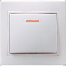 ВС10-1-1-КБ Выключатель 1кл с инд. 10А КВАРТА (белый) EVK11-K01-10-DM