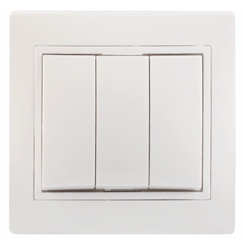 ВС10-3-0-КБ Выключатель 3кл 10А КВАРТА (белый) EVK30-K01-10-DM