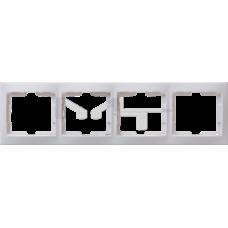РГ-4-КБ Рамка 4местн. горизонт. КВАРТА (белый) EMK40-K01-DM