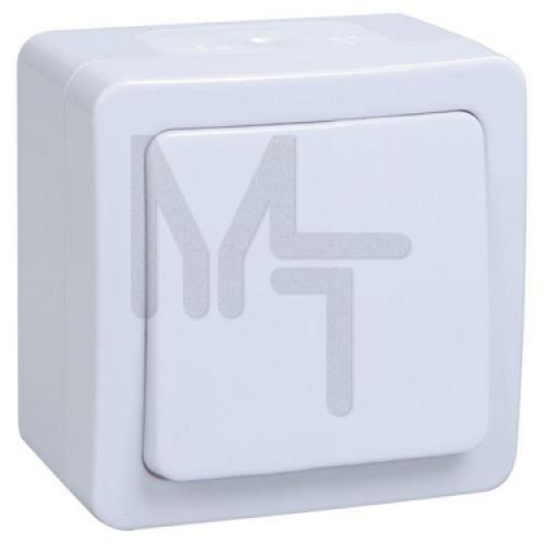 ВСп20-1-0-ГПБ выкл 1кл  проход. о/у  IP54 (цвет клавиш: белый) ГЕРМЕС PLUS EVMP12-K01-10-54-EC